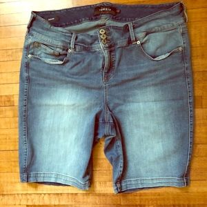 Denim Jegging Shorts